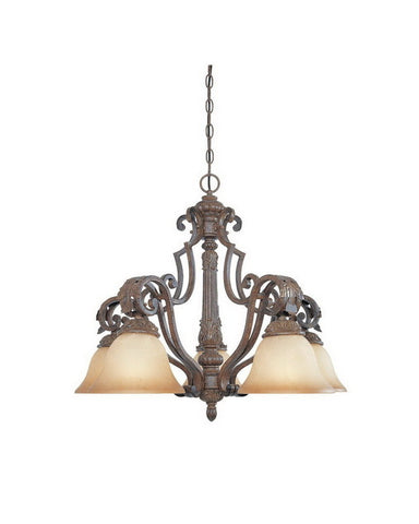 Designers Fountain Lighting 97685 VBG Grand Palais Collection Five Light Hanging Chandelier in Venetian Bronze and Gold Finish - Quality Discount Lighting