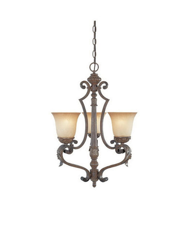 Designers Fountain Lighting 97683 VBG Grand Palais Collection Three Light Hanging Chandelier in Venetian Bronze and Gold Finish - Quality Discount Lighting