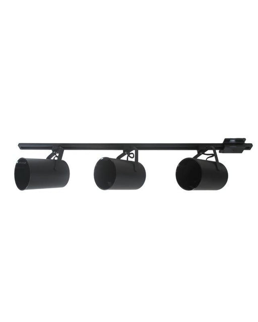 International Lighting IL5814-31 Three Light Cylinder Track Head Kit in Black Finish - Quality Discount Lighting
