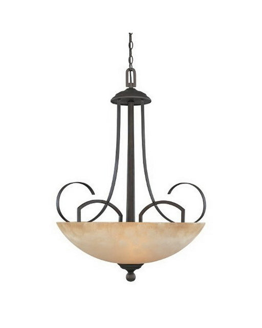 Designers Fountain Lighting 80231 ORB Caledonia Collection Three Light Hanging Pendant Chandelier in Oil Rubbed Bronze Finish - Quality Discount Lighting