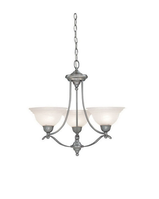 Designers Fountain Lighting 5693 PW Palladium Collection Three Light Hanging Chandeiler in Pewter Finish - Quality Discount Lighting