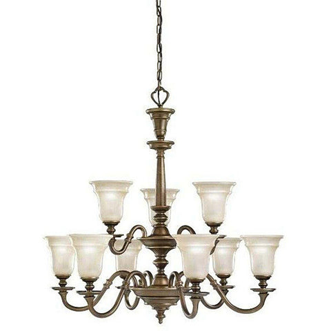 Kichler Lighting 4569 OB Nine Light Hanging Chandelier in Oiled Bronze Finish - Quality Discount Lighting