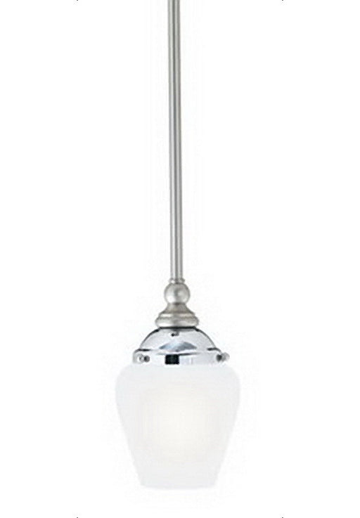 Thomas Lighting M2555-4 Mini Pendant In Satin Nickel & Chrome Finish and Cased Satin Opal Glass