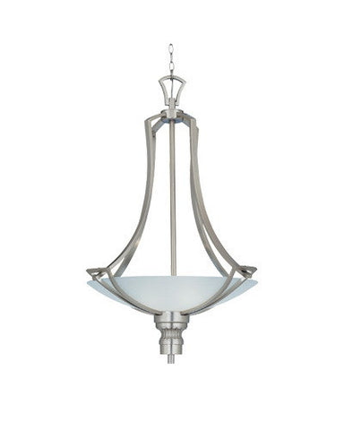 Designers Fountain Lighting 5716 SP Laressa Collection Three Light Pendant Bowl Chandelier in Satin Platinum Finish - Quality Discount Lighting