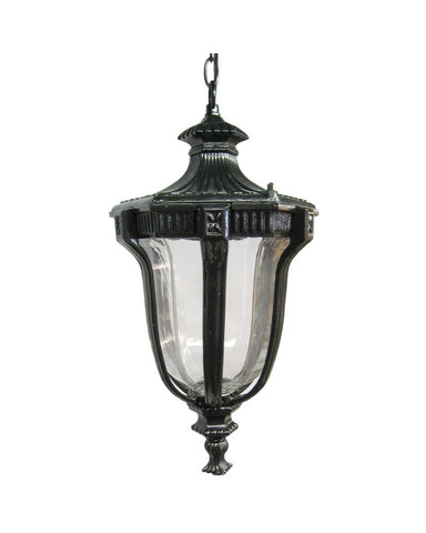 Epiphany Lighting 104922 BK Cast Aluminum Outdoor Exterior Hanging One Light Lantern in Black Finish