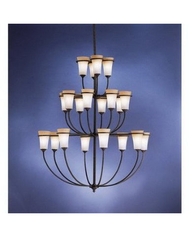 Kichler Lighting 1737 DBK Twenty Light Chandelier in Distressed Black Finish - Quality Discount Lighting
