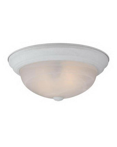 Quoizel Lighting MRN1613WFL Two Light Energy Efficienct Fluorescent Flush Ceiling Light in Fresco Finish - Quality Discount Lighting