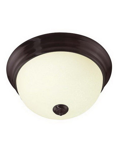 International Lighting 14035-72 Two Light Energy Efficient Fluorescent Flush Ceiling in Florence Bronze Finish - Quality Discount Lighting