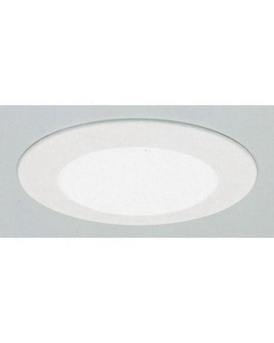 "Premier PEP-4-WH-SHWR White 4"" Line Voltage Flat Shower Recessed Trim - Quality Discount Lighting"