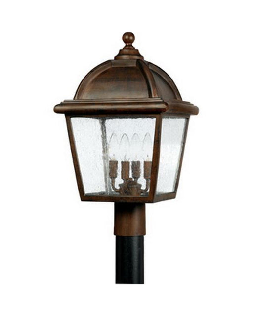 Quoizel Lighting HP9012 TB Hampton Collection Four Light Exterior Outdoor Post Lantern in Terra Bronze Finish - Quality Discount Lighting