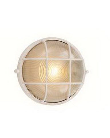 Trans Globe Lighting 41505 WH One Light Outdoor Wall Mount in White Finish