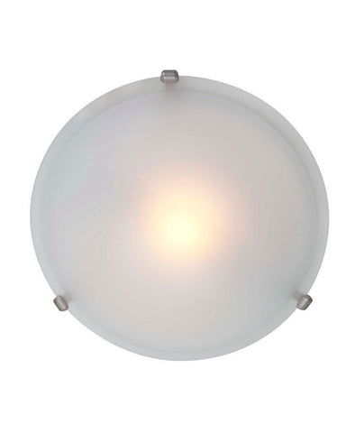 Access Lighting 50020 SAT One Light Halogen Flush Ceiling Mount in Satin Nickel Finish - Quality Discount Lighting