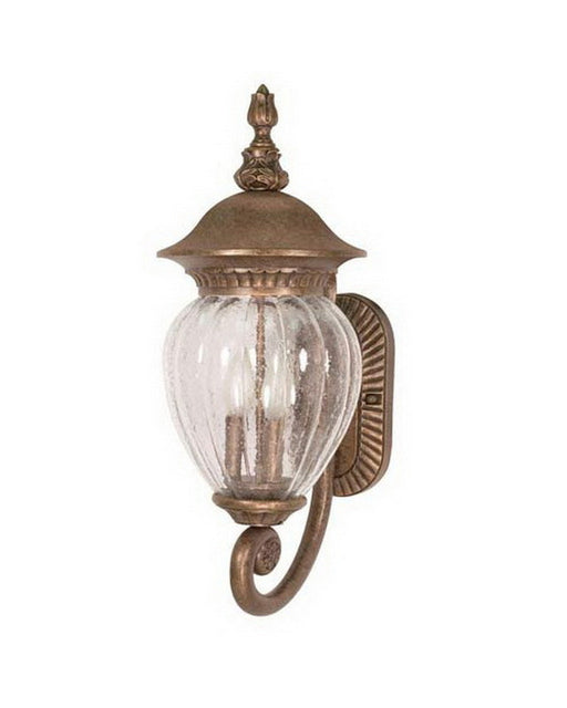 Nuvo Lighting 60-785 Balun Collection Exterior Outdoor Wall Lantern in Platinum Gold Finish - Quality Discount Lighting