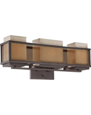 Nuvo Lighting 60-4893 Matrix Collection Three Light Bath Vanity Wall Mount in Henna Bronze Finish - Quality Discount Lighting