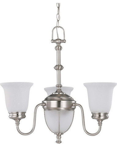 Nuvo Lighting 60-2804 Salem Collection Five Light Chandelier in Brushed Nickel Finish