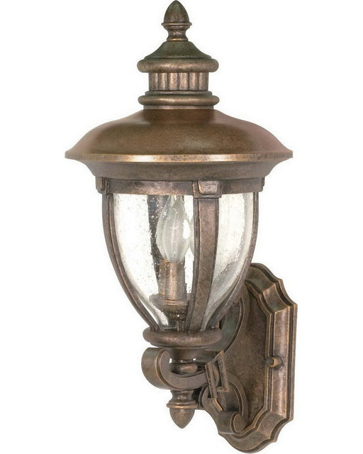 Nuvo Lighting 60-955 Galeon Collection Three Light Exterior Outdoor Wall Lantern in Platinum Gold Finish - Quality Discount Lighting