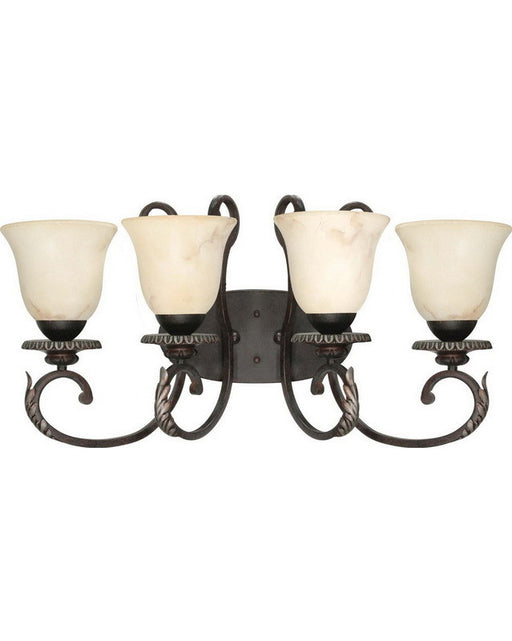 Nuvo Lighting 60-1164 Cipriani Collection Four Light Bath Vanity Wall Mount in Garnet Bronze Finish