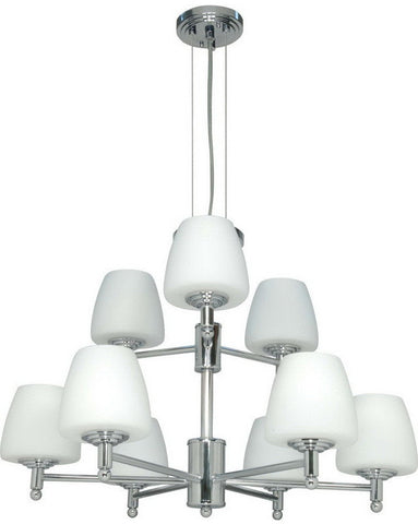 Nuvo Lighting 60-1076 Galileo Collection Nine Light Chandelier in Polished Chrome Finish - Quality Discount Lighting