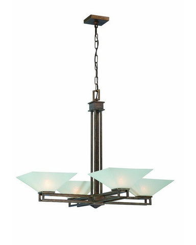 Nuvo Lighting 60-4404 Ratio Collection Four Light Chandelier in Inca Gold Finish - Quality Discount Lighting