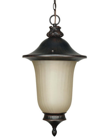 Nuvo Lighting 60-2509 One Light Energy Efficient Fluorescent Exterior Outdoor Hanging Pendant in Penny Bronze Finish - Quality Discount Lighting
