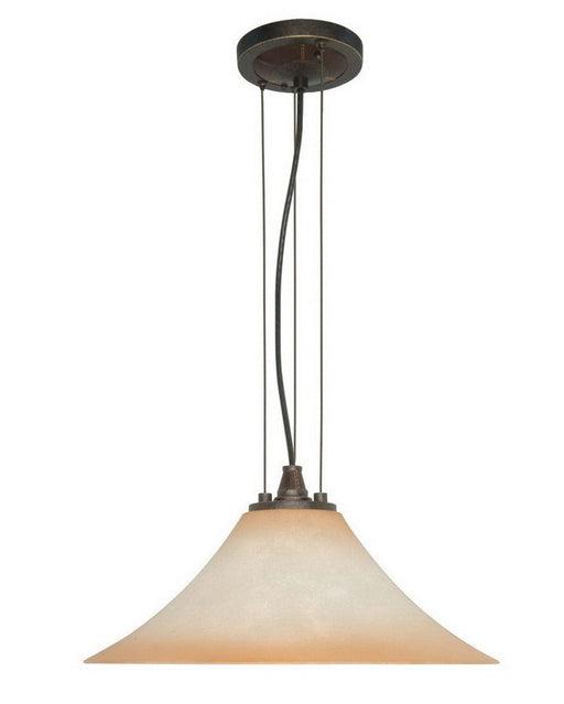 Nuvo Lighting 60-2446 Viceroy Collection One Light Energy Efficient Fluorescent Pendant Chandelier in Golden Umber Finish - Quality Discount Lighting