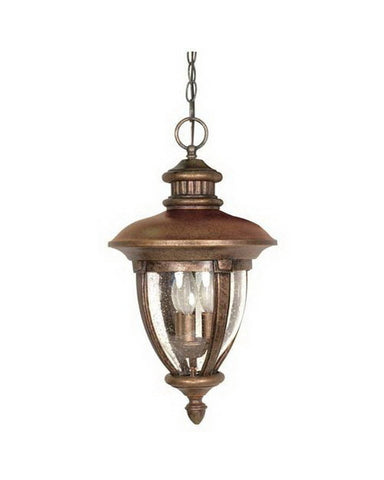 Nuvo Lighting 60-959 Galeon Collection Three Light Exterior Outdoor Hanging Lantern in Platinum Gold Finish - Quality Discount Lighting
