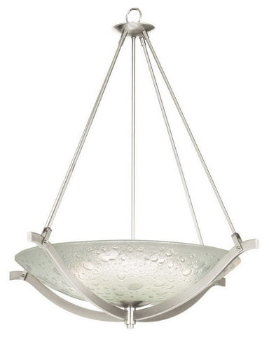 Kalco Lighting 6153 FSN Four Light Energy Efficient Fluorescent Pendant Chandelier in Satin Nickel Finish - Quality Discount Lighting