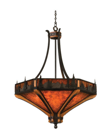 Kalco Lighting 5818 NI Six Light Pendant Chandelier in Natural Iron Finish - Quality Discount Lighting