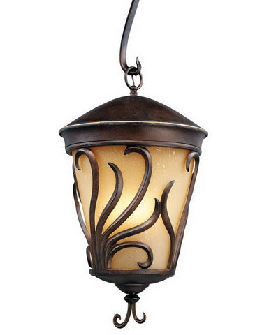 Kalco Lighting 9276 BB Three Light Outdoor Exterior Hanging Lantern in Burnished Bronze Finish - Quality Discount Lighting