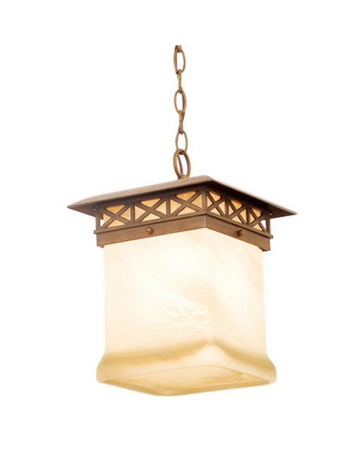 Kalco Lighting 9028 WT One Light Outdoor Exterior Hanging Pendant Lantern in Walnut Finish - Quality Discount Lighting