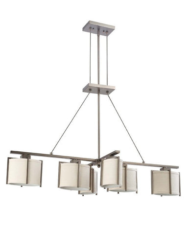Nuvo Lighting 60-4051 Portia Collection Six Light Energy Star Fluorescent GU24 Island Chandelier in Hazel Bronze Finish - Quality Discount Lighting