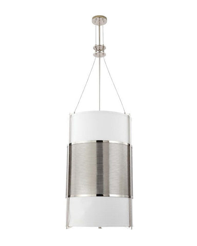 Nuvo Lighting 60-4332 Diesel Collection Six Light Energy Star Efficient Fluorescent GU24 Pendant Chandelier in Polished Nickel Finish - Quality Discount Lighting