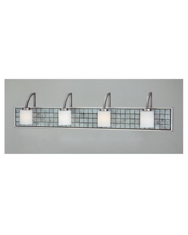 Moving Bathroom Vanity Light: Quoizel Lighting VTCL8604 BN Vetreo Clouds Collection Four