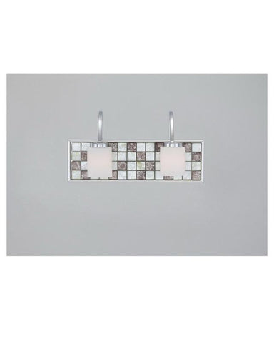 Quoizel Lighting VTRT8602C Vetreo Retro Collection Two Light Bath Vanity Wall Mount with LED Nightlight in Polished Chrome Finish - Quality Discount Lighting