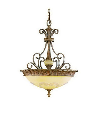 Kichler Lighting 3435 APC Crosswell Collection Three Light Pendant Chandelier in Aged Pecan Finish - Quality Discount Lighting