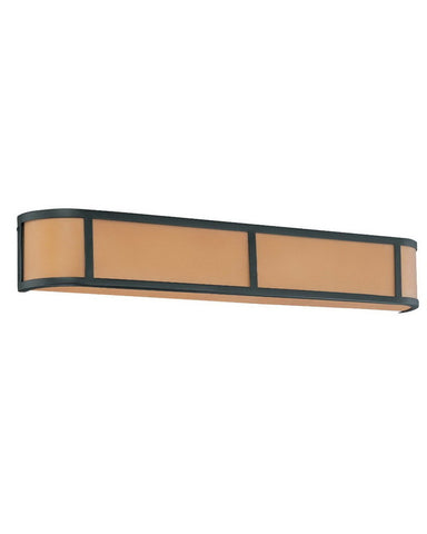 Nuvo Lighting 60-3824 Odeon Collection Four Light Energy Star Efficient Fluorescent GU24 Bath Vanity Wall Mount in Aged Bronze Finish - Quality Discount Lighting