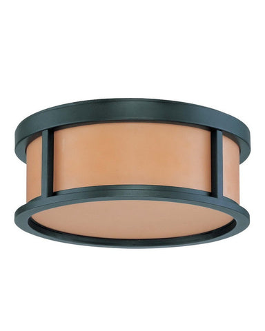 Nuvo Lighting 60-3831 Odeon Collection Two Light Energy Star Efficient Fluorescent GU24 Flush Ceiling Mount in Aged Bronze Finish - Quality Discount Lighting