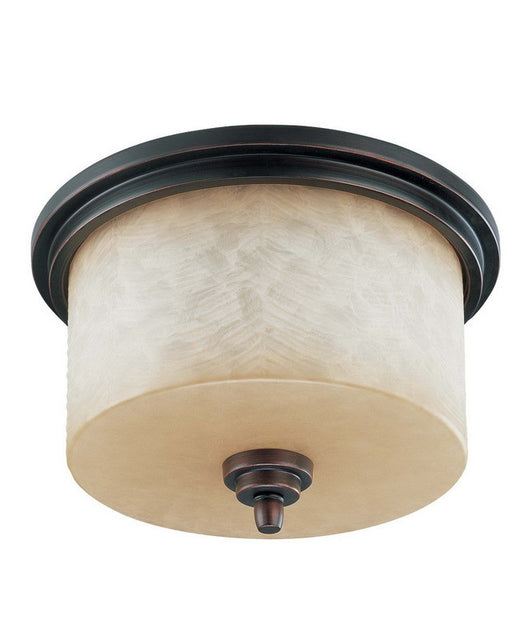 Nuvo Lighting 60-3851 Lucern Collection Three Light Energy Star Efficient Fluorescent GU24 Flush Ceiling Mount in Patina Bronze Finish - Quality Discount Lighting