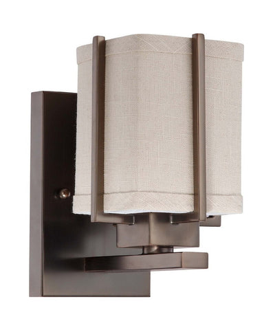 Nuvo Lighting 60-4061 Logan Collection One Light Energy Star Efficient Fluorescent GU24 Wall Sconce in Hazel Bronze Finish - Quality Discount Lighting