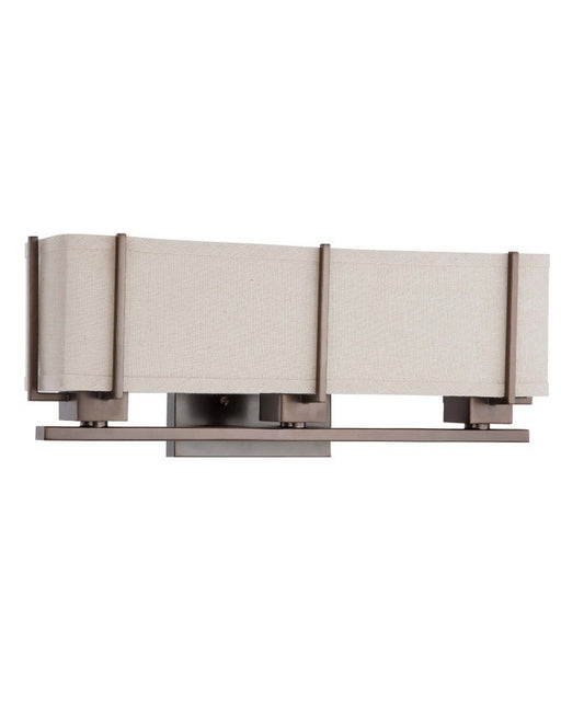 Nuvo Lighting 60-4064 Logan Collection Three Light Energy Star Efficient Fluorescent GU24 Bath Vanity Wall Sconce in Hazel Bronze Finish - Quality Discount Lighting