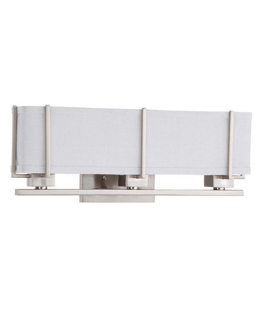 Nuvo Lighting 60-4364 Logan Collection Three Light Energy Star Efficient Fluorescent GU24 Bath Vanity Wall Sconce in Brushed Nickel Finish - Quality Discount Lighting