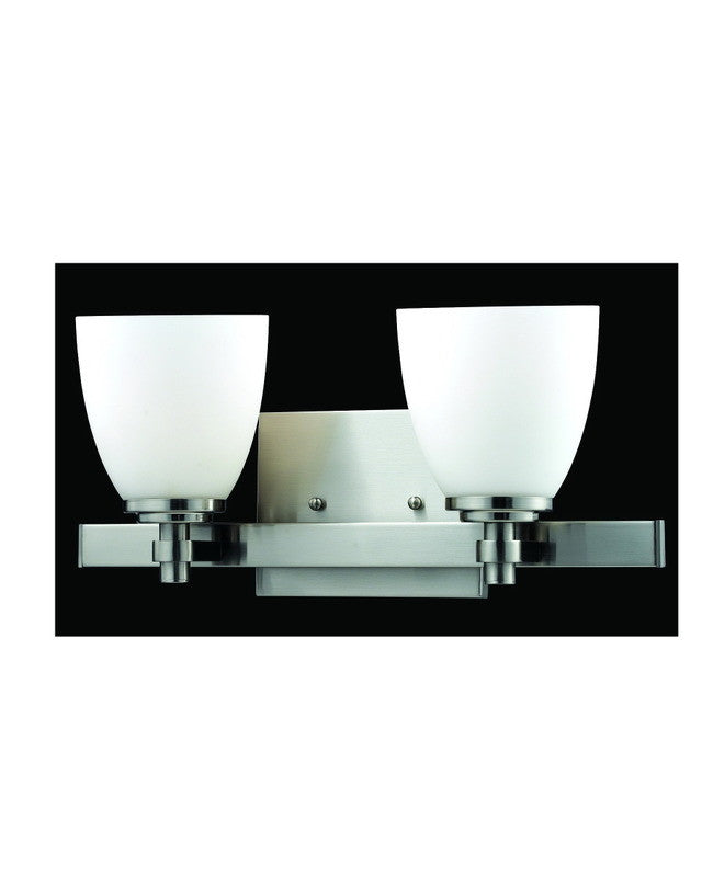 Moving Bathroom Vanity Light: Z-Lite Lighting 1902-2V-BN Two Light Bath Vanity Wall