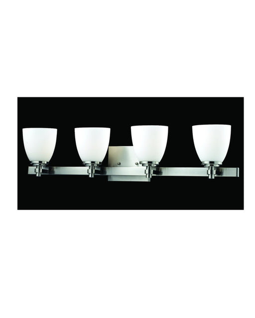 Z-Lite Lighting 1902-4V-BN Four Light Bath Vanity Wall Fixture in Brushed Nickel Finish - Quality Discount Lighting