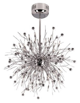 Trans Globe Lighting MDN-492 CH Forty Eight Hanging Chandelier in Polished Chrome Finish - Quality Discount Lighting