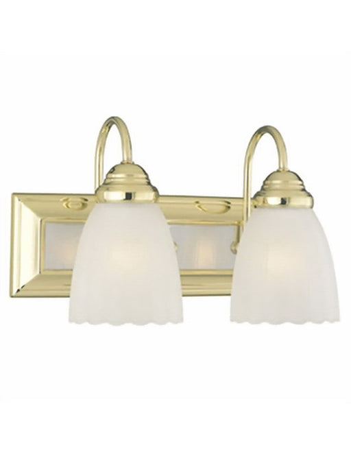 Thomas Lighting SL7622-70 Serenity Collection Two-light Bath Wall Fixture in Polished Brass and Polished Chrome Combo Finish WAS $45.95