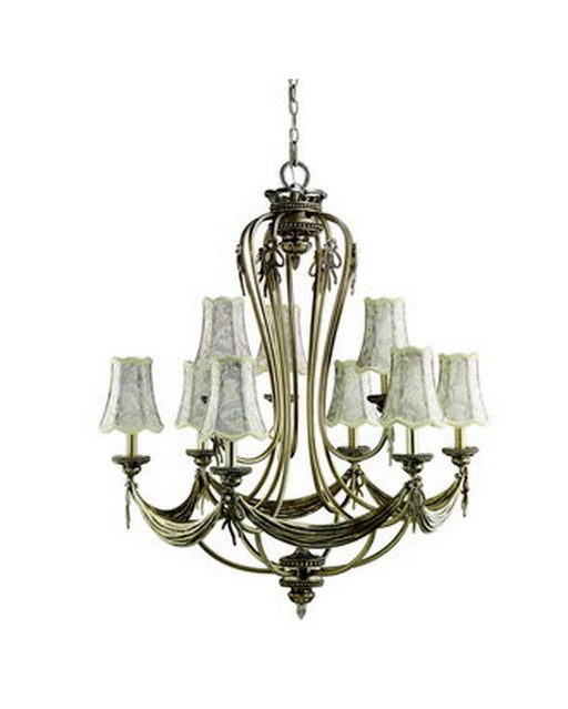 Kichler Lighting 1026 PRS Basham Collection Nine Light Chandelier in Parisian Finish - Quality Discount Lighting