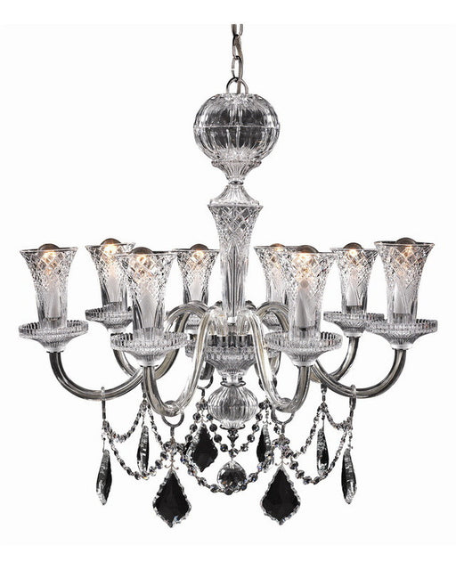 Trans Globe Lighting Ginebra-8-SL Versailles Tradtional Crystal Chandelier in Silver Finish - Quality Discount Lighting