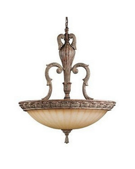 Kichler Lighting 3303 APC Crosswell Collection Six Light Hanging Pendant Chandelier in Aged Pecan Finish - Quality Discount Lighting