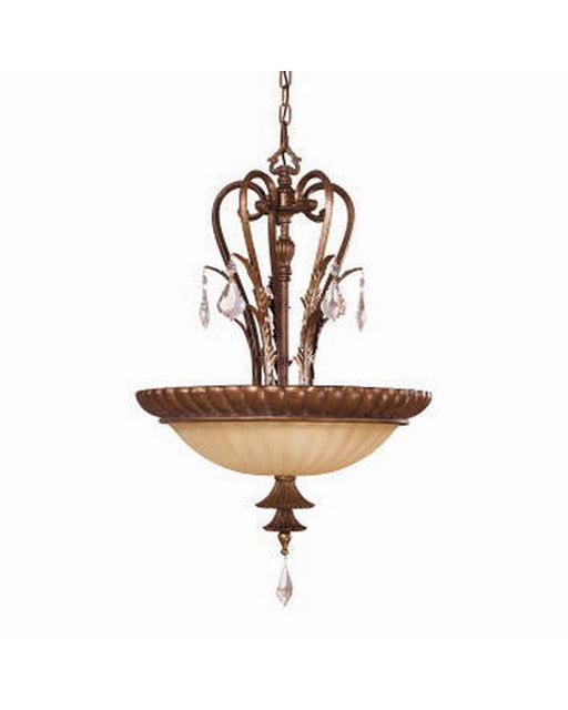Kichler Lighting 3229 LBZ Anniston Collection Three Light Pendant Chandelier in Lincoln Bronze Finish - Quality Discount Lighting