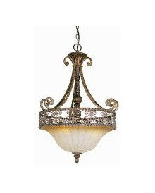 Trans Globe Lighting 7181 DBG Sights of Seville Collection 3 Light Pendant Chandelier in Dark Bronze Finish
